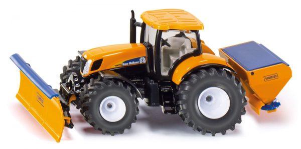 Tractor con la placa de arado y esparcidor de sal - Siku Juguetes